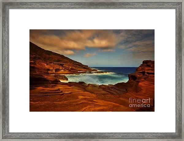Lanai Lookout Hawaii  Framed Print