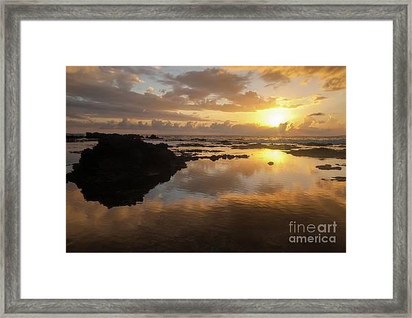 Lanai Sunset #1 Framed Print