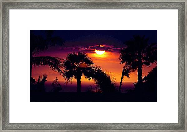 Lanai Sunset Framed Print