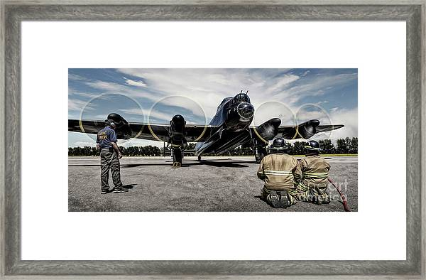 Lancaster Engine Test Framed Print