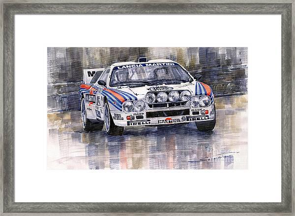 Lancia 037 Martini Rally 1983 Framed Print