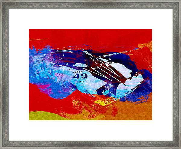 Lancia Stratos Watercolor 2 Framed Print