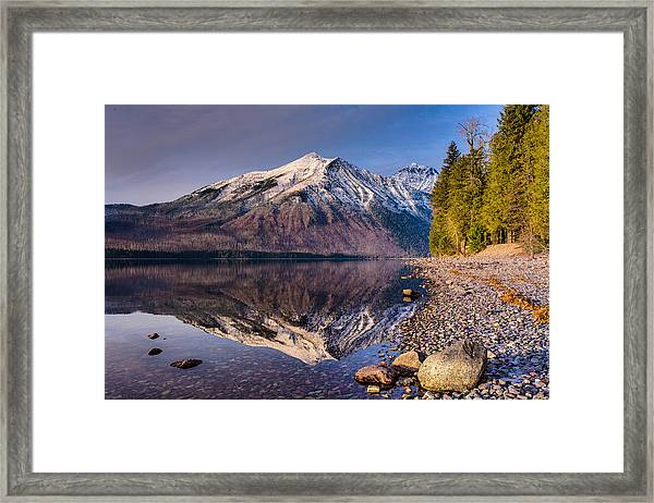 Land Of Shining Mountains Framed Print