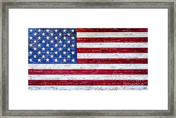 Land Of The Free,american Flag Wall Art, Framed Print