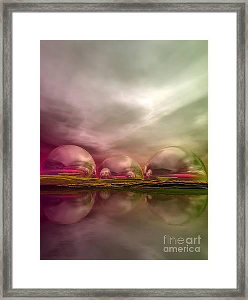 Framed Print featuring the digital art Land Of The Lost by Sandra Bauser Digital Art