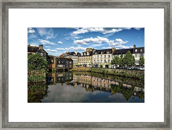 Landerneau Village View Framed Print