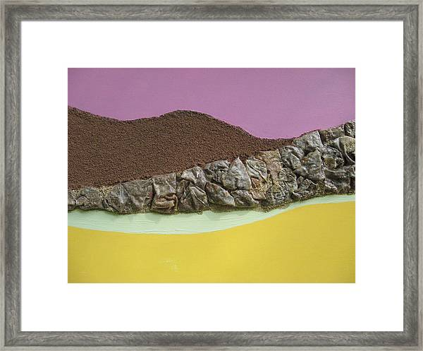 Landforms Framed Print by Gail Hinchen