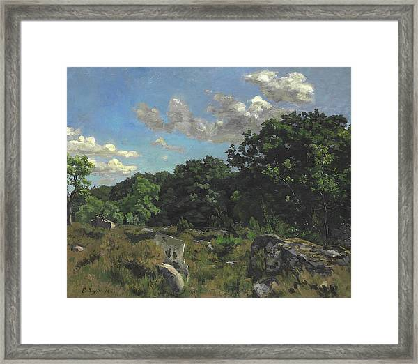 Landscape At Chailly Framed Print