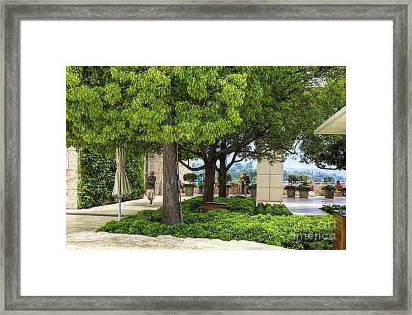 Landscape Getty Museum Center Court  Framed Print