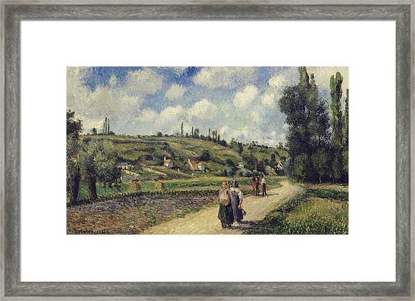Landscape Near Pontoise Framed Print