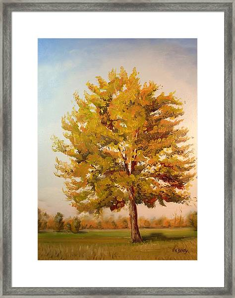 Landscape Oil Painting Framed Print