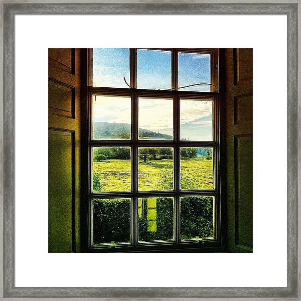 #landscape #window #beautiful #trees Framed Print