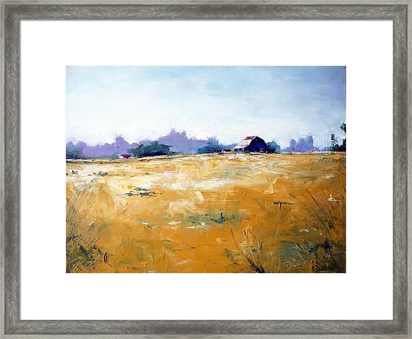 Landscape With Barn Framed Print