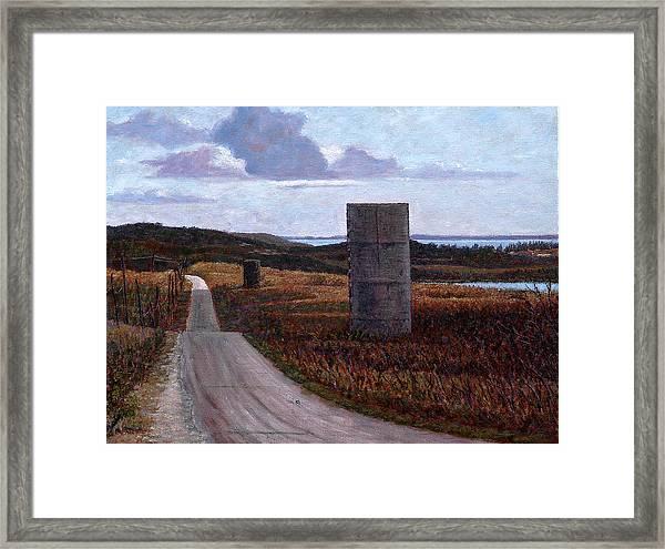 Landscape With Silos Framed Print