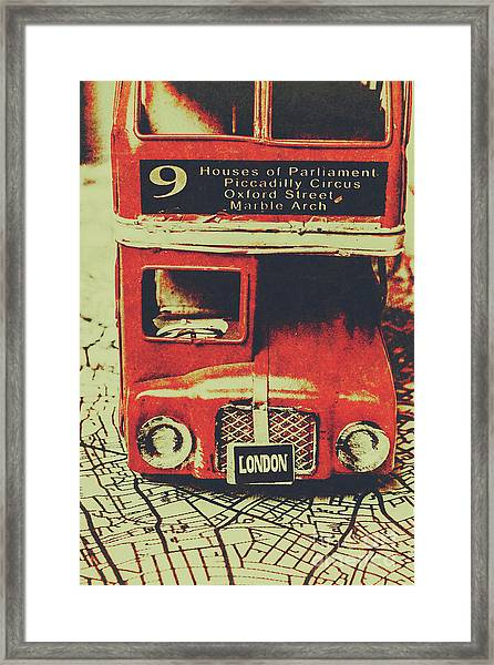 Lanes And Lines Of London Framed Print