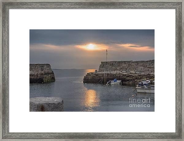 Lanesville Sunset Framed Print