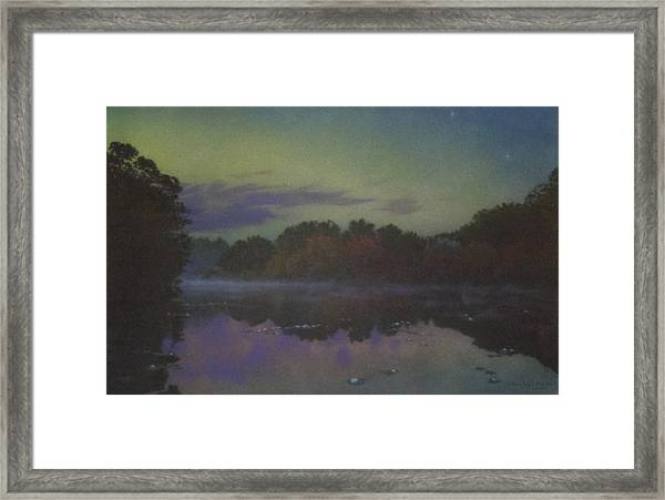 Langwater At Twilight Framed Print