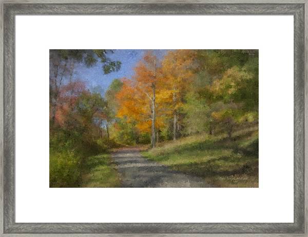 Langwater Path In October Framed Print