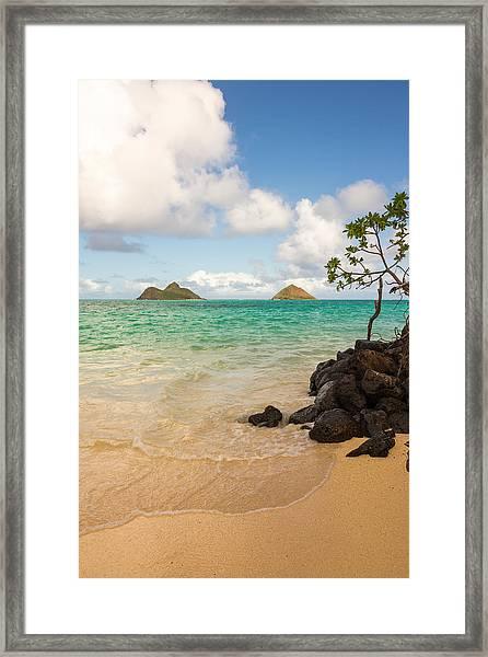 Lanikai Beach 1 - Oahu Hawaii Framed Print