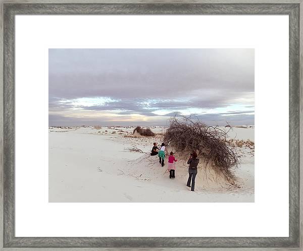 Exploring The Dunes Framed Print