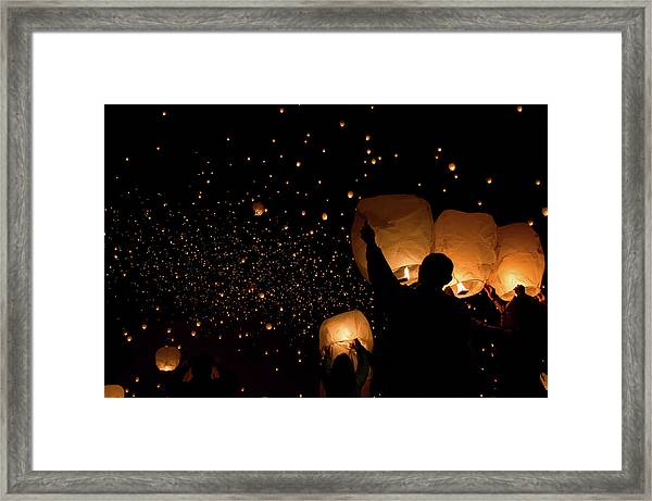 Lantern Fest Group Framed Print