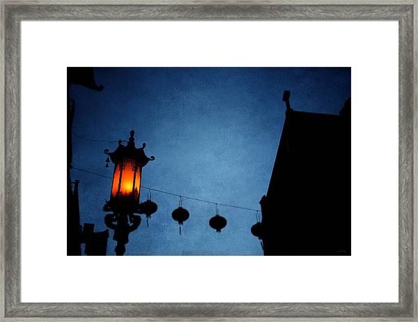 Lanterns- Art By Linda Woods Framed Print