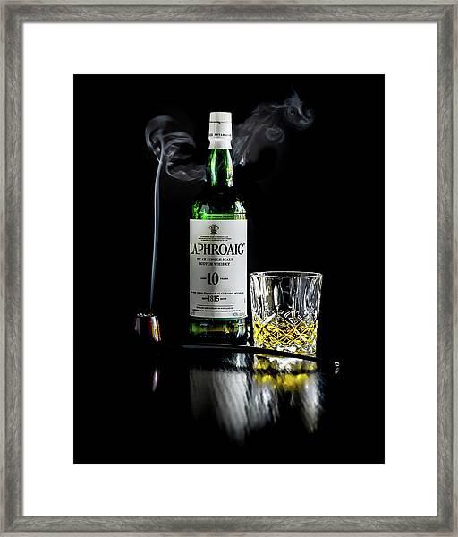 Whiskey And Smoke Framed Print