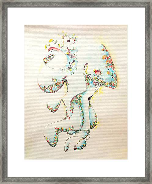 Lapis Lazuli Bejeweled Fertility Goddess Framed Print