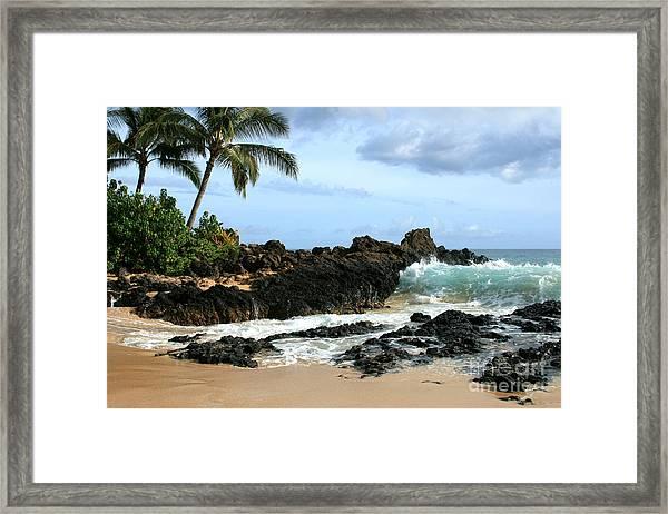 Lapiz Lazuli Stone Aloha Paako Aviaka Framed Print