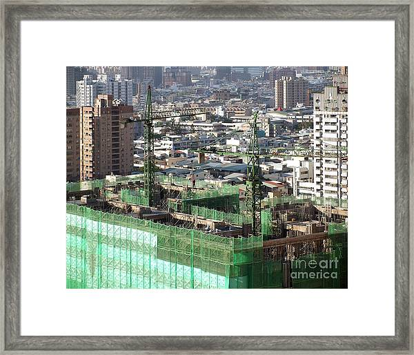 Large Scale Construction Site Framed Print