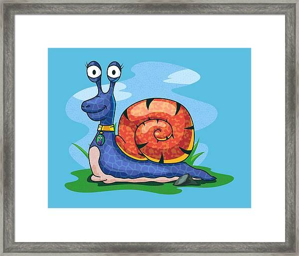 Larry The Snail Framed Print
