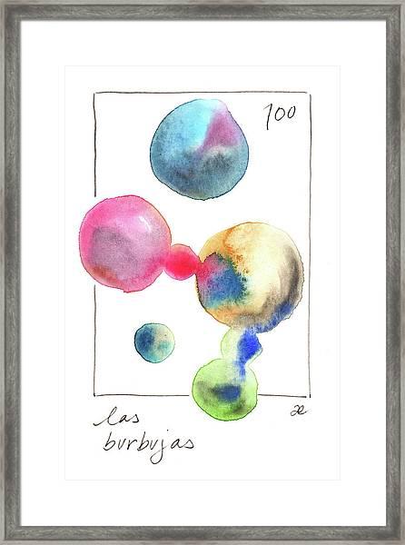 Las Burbujas Framed Print