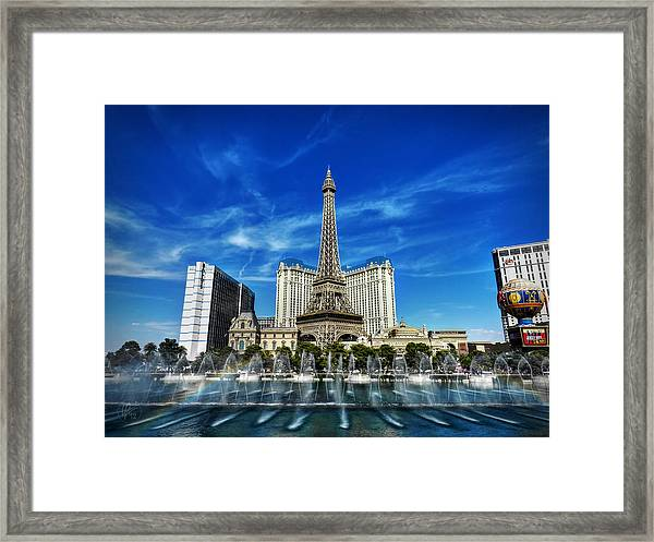 Framed Print featuring the photograph Las Vegas 016 by Lance Vaughn