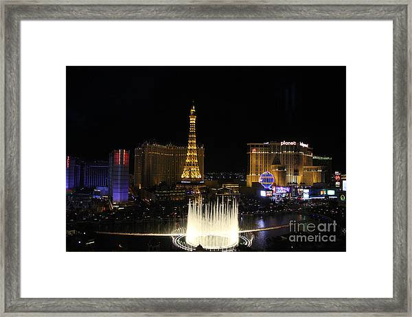 Las Vegas By Night Framed Print