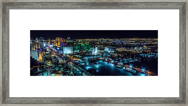 Las Vegas Looking North Framed Print