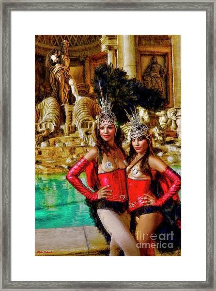Las Vegas Showgirls Framed Print