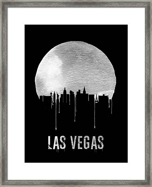 Las Vegas Skyline Black Framed Print