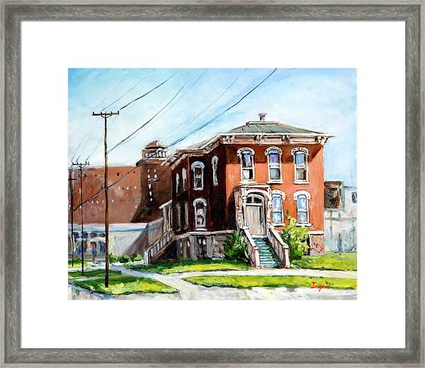 Last House Standing Framed Print