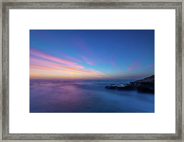 Last Light In April, Sunset Clifs Framed Print
