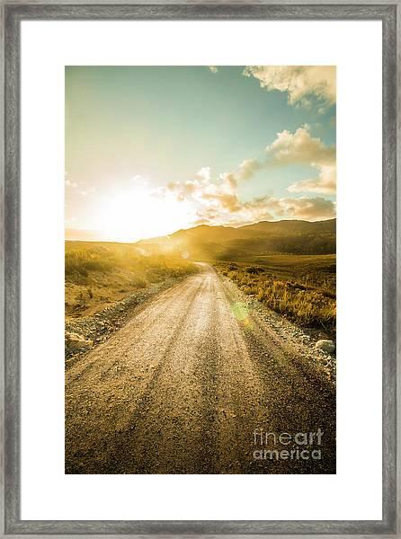 Last Light Lane Framed Print