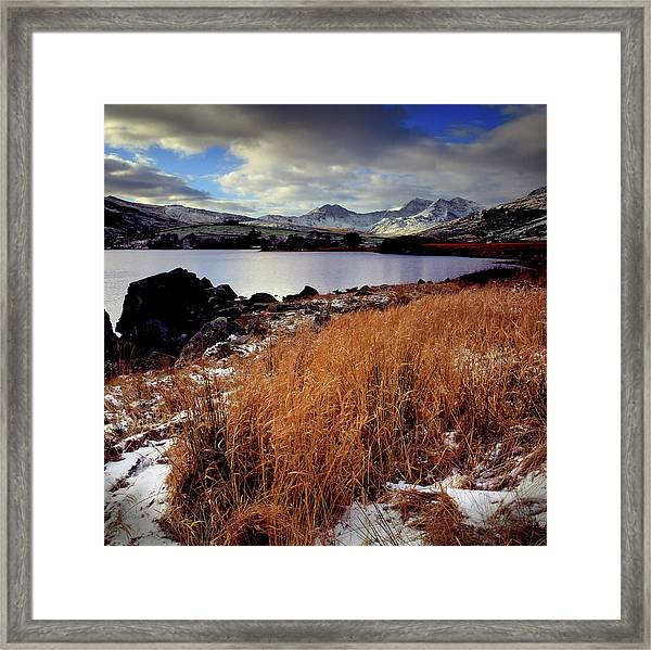 Last Light On Crib Goch Framed Print
