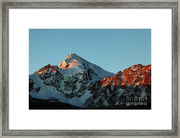 Last Light On Mt Huayna Potosi Framed Print