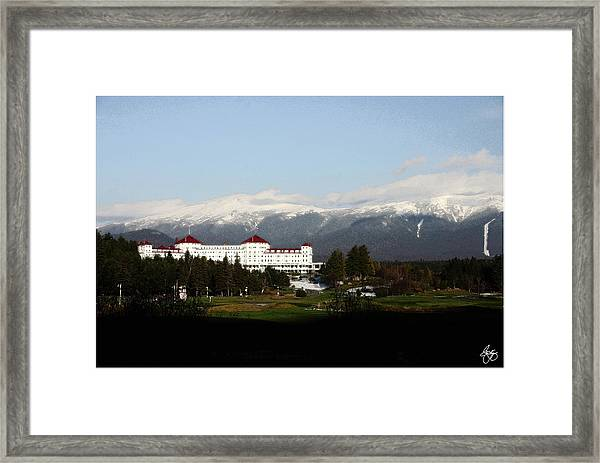 Last Light On The Mount Washington Hotel Framed Print