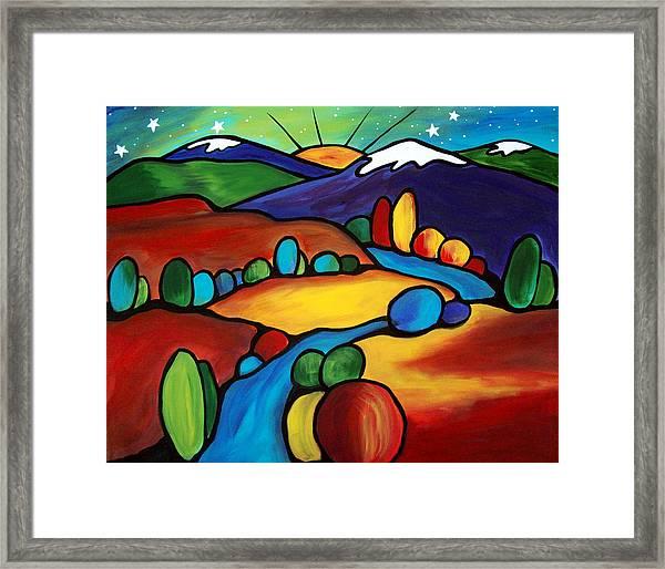 Last Light Over The Arroyo Framed Print