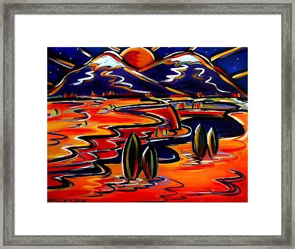 Last Light Over The Spanish Peaks Framed Print