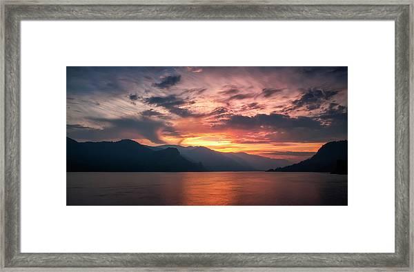 Last Light - Wide Framed Print