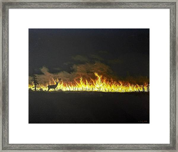 Framed Print featuring the painting Last Look Back At Home by Kevin Daly