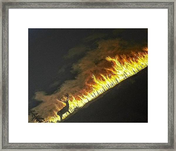 Framed Print featuring the painting Last Look Back Home by Kevin Daly