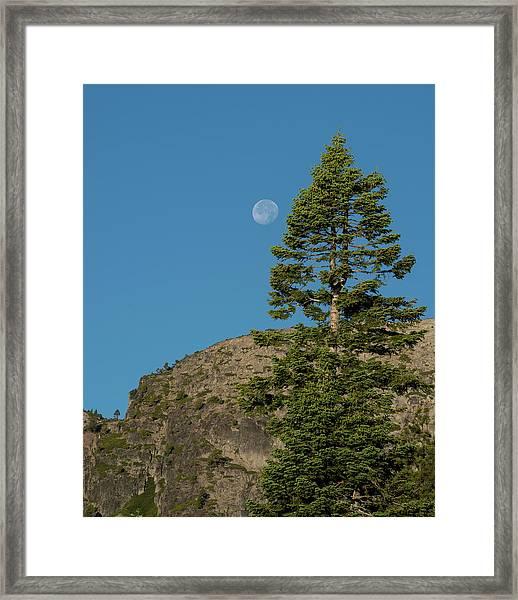 Last Moments Of A Full Moon Framed Print