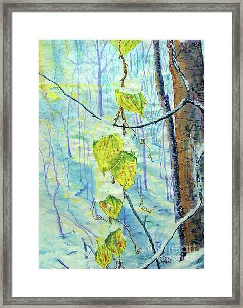 Last Of The Leaves Framed Print